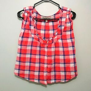 Abercrombie & Fitch womens plaid camisole top